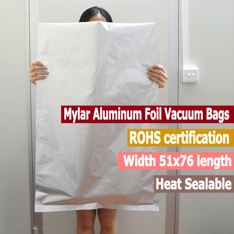 10 шт. большие майларовые мешки из алюминиевой фольги, вакуумные пакеты, 5 галлонов, майларовые пакеты для хранения пищевых продуктов, пакеты ...