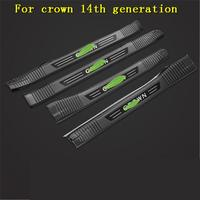 Stainless Steel car Scuff Plate/Door Sill Door Sill pedal bienvenidos for Toyota crown 2015 2018 14th generation Car styling