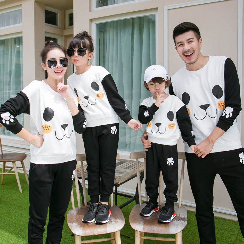 Family Matching Clothes Mother Father Son Outfits Mother and Daughter clothes Plus Size Children Clothing Set Hoodies Pants