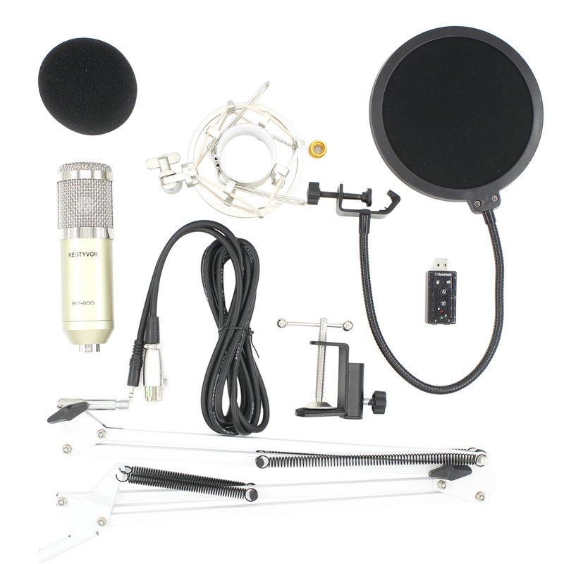 BM 800 Studio Vocal Rrecording Condenser  Microphone Kits Bundle Mikrofon For Computer Microfone For Audio Vocal Record