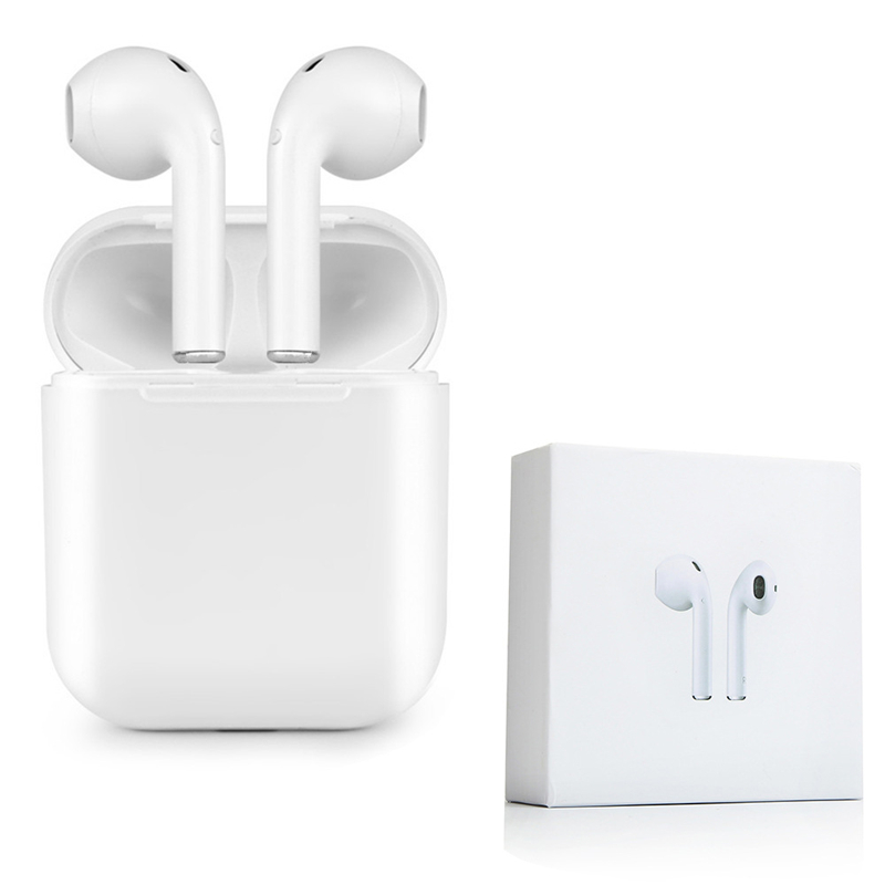 Bluetooth Mini Double ear IFANS I9 Earbuds Earphone Wireless Air Headsets pods with mic for IPhone 8 7 Plus 6s Android high quality laptops bluetooth earphone for acer aspire e5 573g 7049 notebooks wireless earbuds headsets with mic