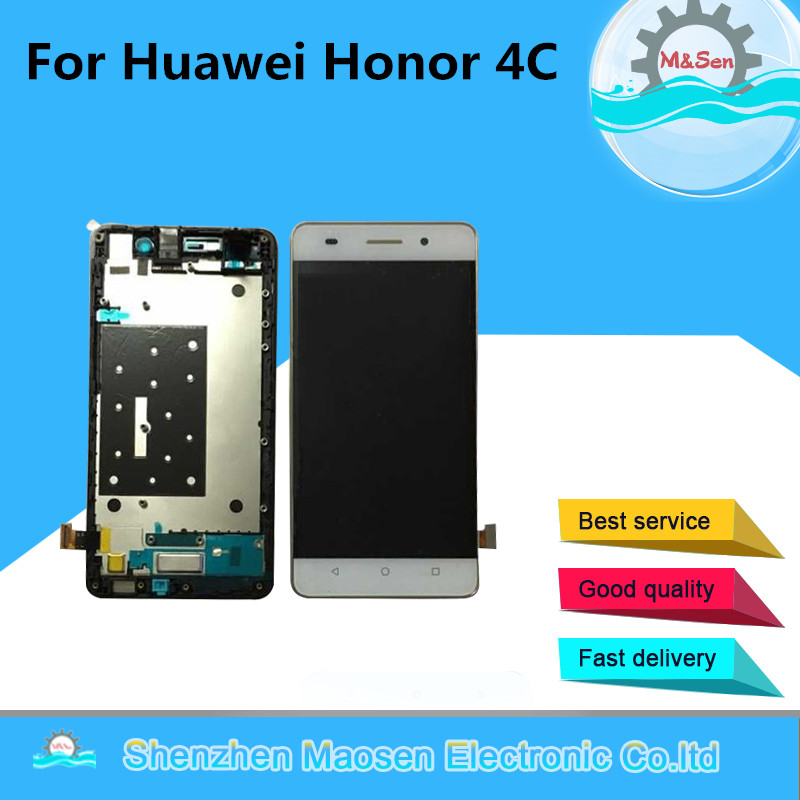 M Sen For Huawei Honor 4C LCD screen display touch panel digitizer with frame white black