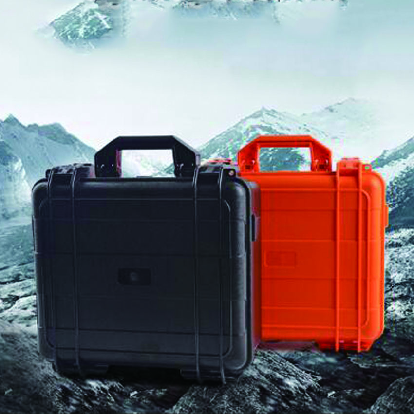 Durable hard ABS waterproof plastic equipment tool case no foam durable waterproof empty plastic toolbox without foam