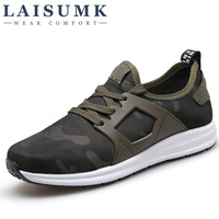 2017 LAISUMK Super Men Casual Shoes Canvas Camouflage Star Style Male Shoes Comfort Soft Walking Driving