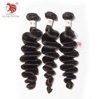 [FYNHA] 3 Bundles Deal Indian Virgin Hair Loose Wave wavy Wefts Natural Black Human Hair Extensions