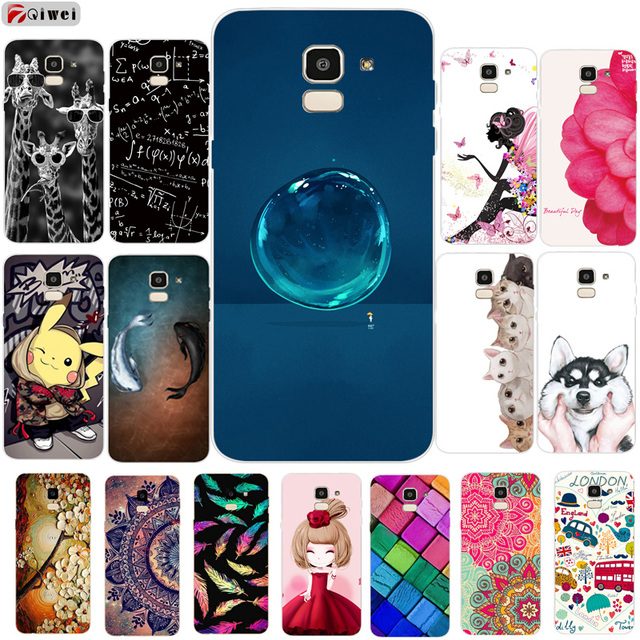 save off 735b4 dfc2c US $1.3 40% OFF|Silicone Case For Samsung J6 2018 Case 3D TPU Soft Back  Cover For Samsung Galaxy J6 2018 Phone Cases Fundas J600 J600F Print-in  Fitted ...
