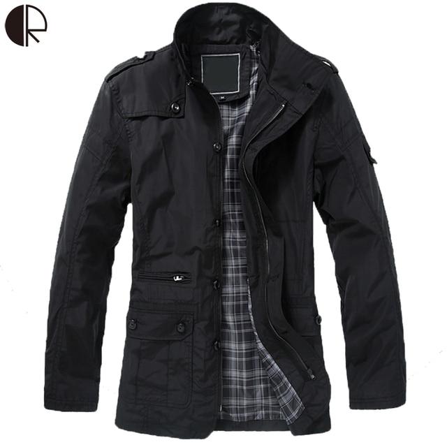 2016 Winter Jacket For Men Trench Coat Men Winter Male Jacket Turn-Down Collar Plus Size 5XL  Long Jacket Mens Overcoat MC979