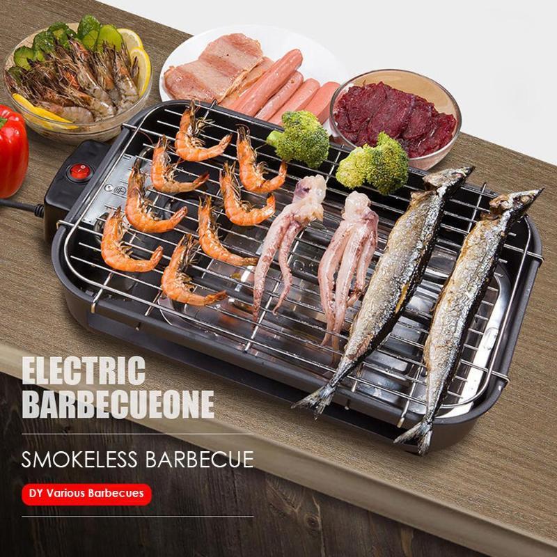 Chauffage électrique Barbecue ménage sans fumée Barbecue Machine four électrique gril sans fumée Barbecue Machine à viande