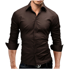 Long Sleeves Slim Casual Solid Color Men's Shirts