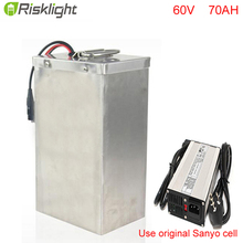Super Powerful 60V 70Ah Recharge Lithium Battery 60V 3000W Motorcycle Battery