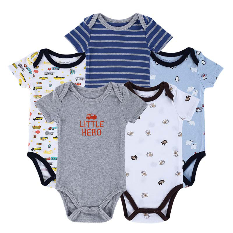 dd91b67ddd9d8 Baby Bodysuits Newborn Ropa Bebe 5pcs/ lot 100% Cotton Raccoon Body Babies  Boy Girl Boy Baby Bodysuits 0-12 Months Baby Clothes