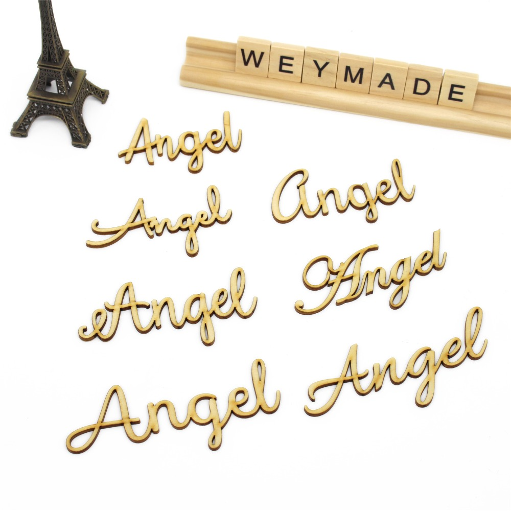 Personalized Laser Cut Wooden Place Name Setting Wood Guest Place Card Decor Rustic Wedding Party Centerpiece Name