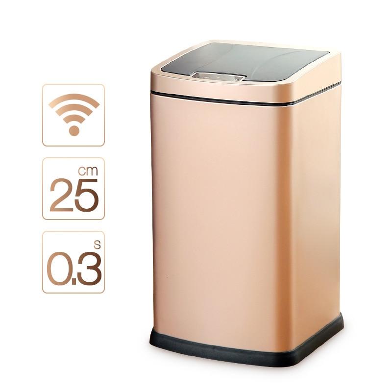 ORZ 12L automatique ouvrir/fermer poubelle en acier inoxydable pour usage intérieur salle de bains toilette bureau nettoyage Smart capteur poubelle