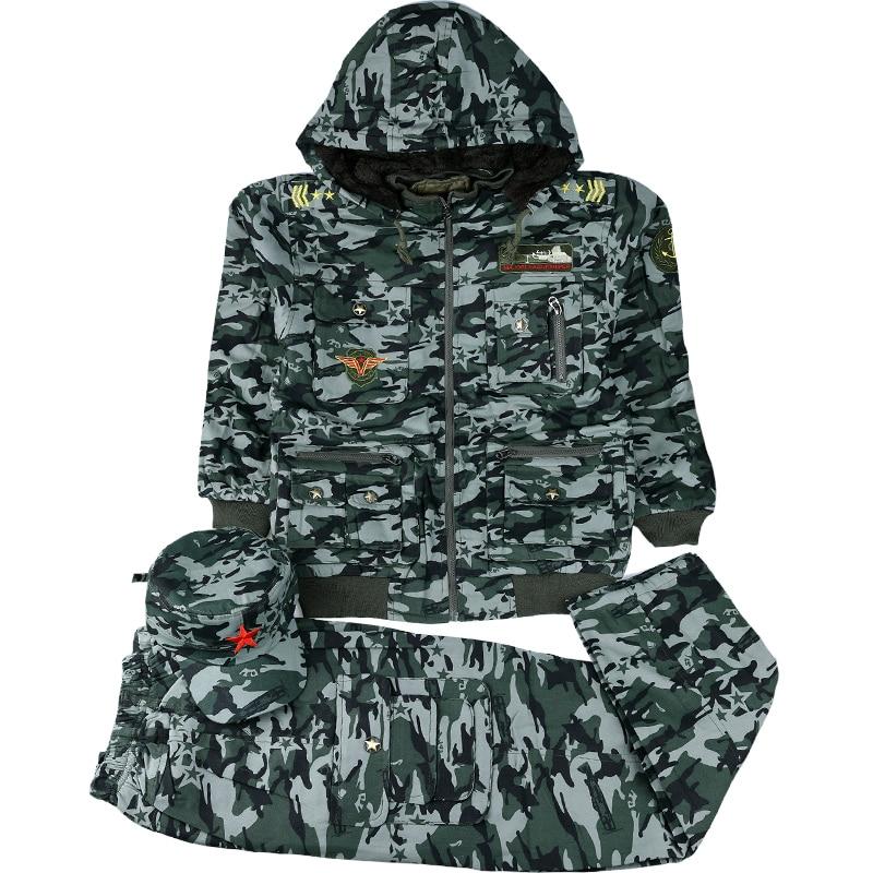 Children's Uniform Outfit Camouflage Suit Clothes Boy's Kids Army Military Tactical  Combat Uniforms Hooded Cotton Kids Sets multicam uniforms acu camouflage uniform military tactical shirt pants wholesale combat army uniform
