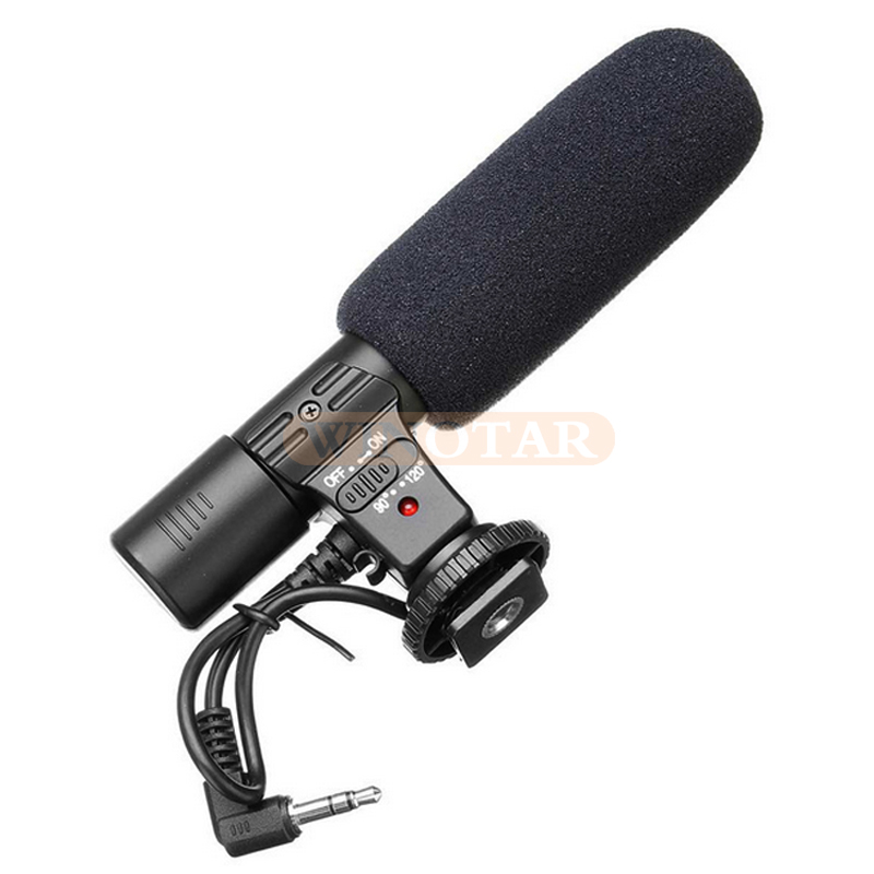 Mic-01 Professional Camera External Stereo Microphone For Nikon D7500 D7200 D5600 D5500 D5300 D3300 D3200 D810 D750 D500 D5 D4