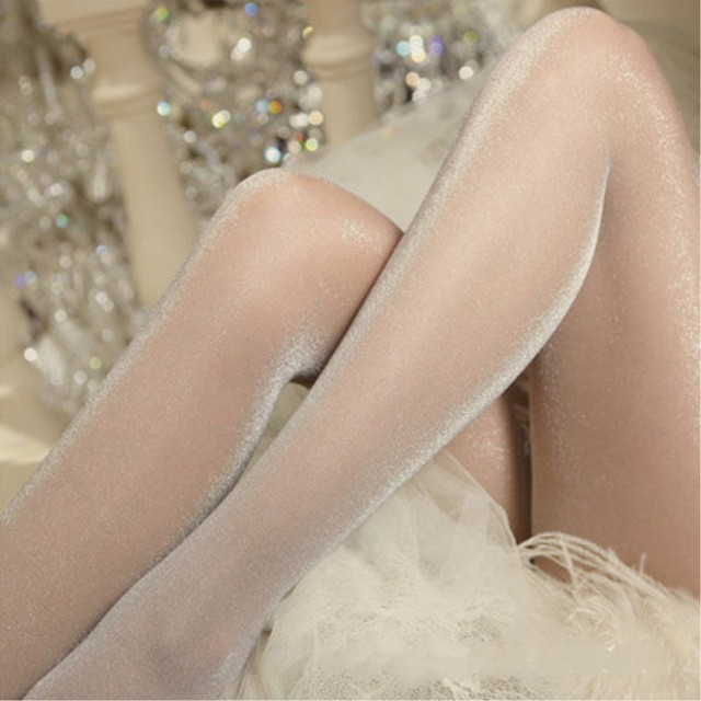 Jeseca New Sexy Shinny Tights Silver Silk High Hosiery Summer Breathable 20D Pantyhose Colorful Lady Thin Female Tight Lingerie 2