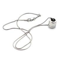Gravieren Brief Tropfen Öl Zylinder Edelstahl Thin Schlangenkette Anhänger Halskette Tops Für Männer Frauen