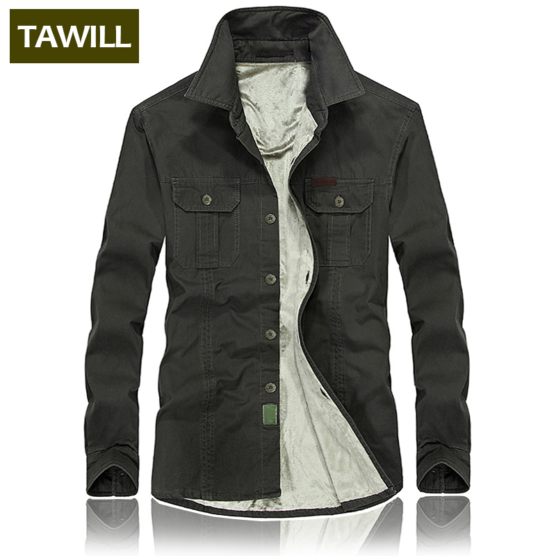 TAWILL Winter Denim Shirts Men dress Military Jean Cotton Male Shirt 2018 New Camisa Masculina Brand clothes High Quality B1388A-in Casual Shirts from Men's Clothing