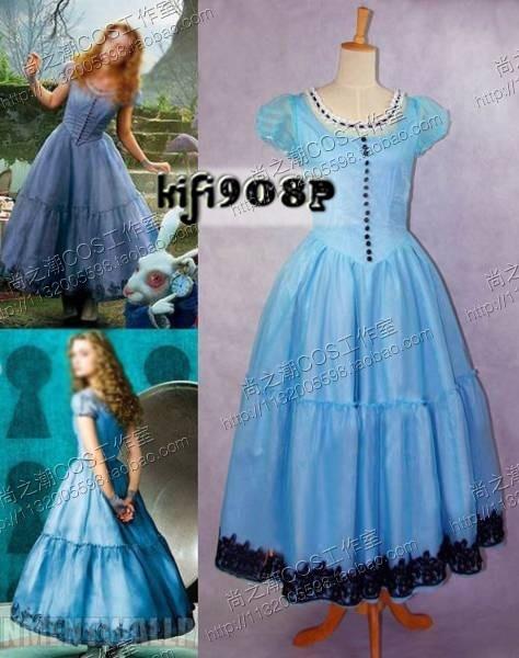 Aliexpress.com : Buy Alice In Wonderland Alice Blue Dress Costume ...