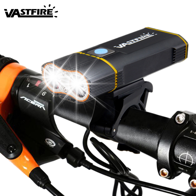Front <font><b>Bike</b></font> Headlight L2 LED <font><b>Bike</b></font> <font><b>Lights</b></font> 6000 <font><b>LM</b></font> USB Rechargeable Cycling Torch 5 Modes MTB Bicycle Lamps image