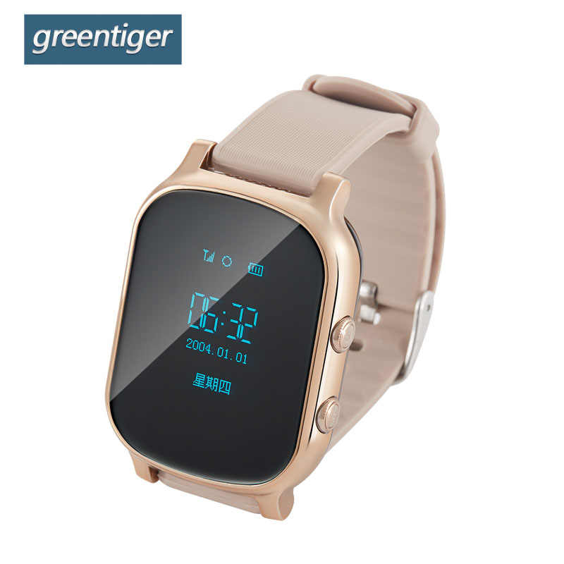 Greentiger T58 GPS WIFI Smart  Kids Watch OLED Screen Tracker Locator SOS Anti-Lost Children Remote Monitor Student Smartwatch