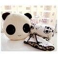 Envío gratis en temporada de vacaciones regalo de cumpleaños calidad de la panda linda almohada + manta cojín de peluche dos piezas de un conjunto