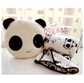 Free shipping holiday sale birthday gift quality cute panda pillow + warm blanket plush cushion stuffed toy two pieces a set