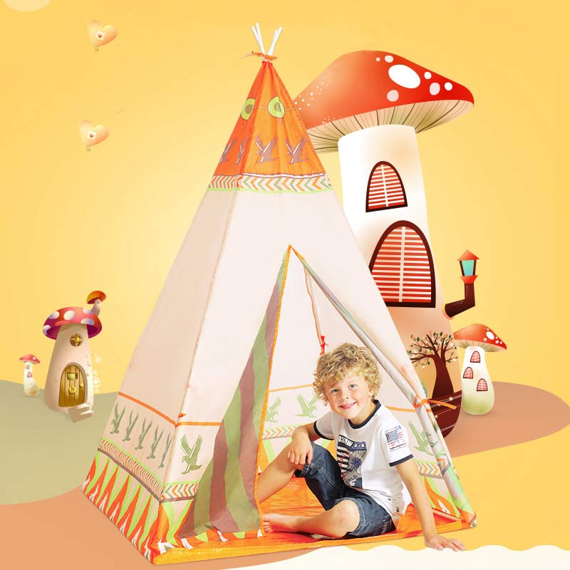 Baby Playpen Tent With Polyester Ultralight Color Printing Tent for Boy Girls Kids Safe Baby Tent