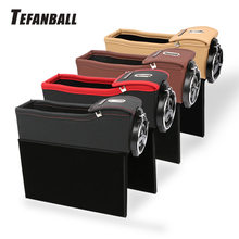 Storage Box Car Organizer Seat Gap PU Case Pocket Car Seat Side Slit for Wallet Phone Coins Cigarette Keys Cards For Universal(China)