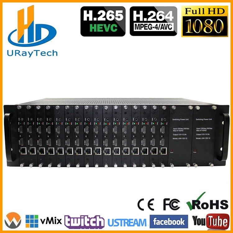 3U Rack HEVC 16 Channels HDMI To IP Video IPTV Encoder H.265 H.264 Live Streaming Broadcast RTMP RTMPS Encoder3U Rack HEVC 16 Channels HDMI To IP Video IPTV Encoder H.265 H.264 Live Streaming Broadcast RTMP RTMPS Encoder