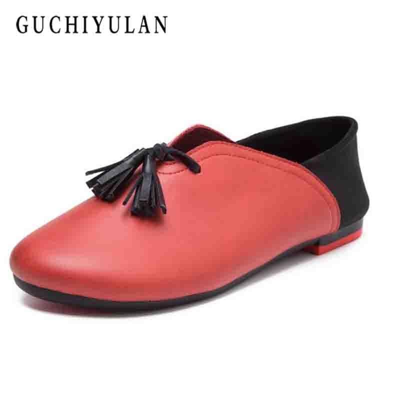 black slip on Nurse shoes fashion spring autumn flat shoes woman square toe shallow casual women ballet flats plus size 35-43