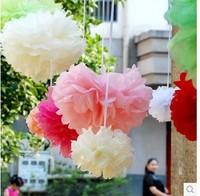 Große größe 15 stücke 25 cm (10 zoll) Seidenpapier Poms ball Party Decor Craft Papier Blume Für hochzeit Dekoration Freies Verschiffen