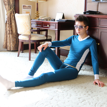 2015New WI Thermal underwear men's tight underwear set 100% cotton long johns set 7 color