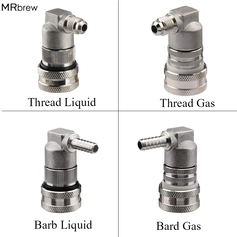 """Ball Lock Quick Disconnect Gas with 1//4/"""" Hose Barb Draft Beer Homebrew Bar"""