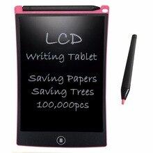 8.5 pink pink cor de rosa lcd escrita tablet digital desenho gráfico tablets placa de almofada de escrita eletrônica com caneta stylus para crianças brinquedos