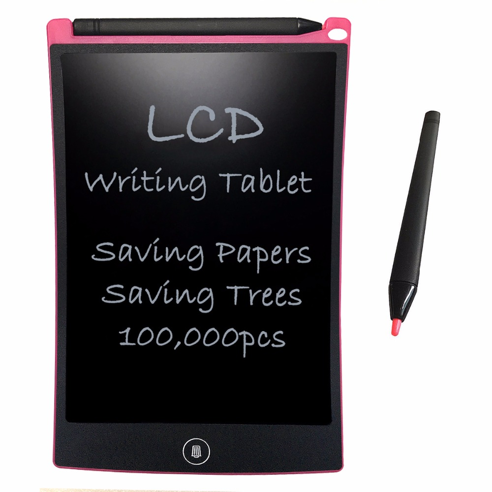 NEWYES Pink 8.5inch Digital LCD Writing eWriter Graffiti Board Notepad Drawing Toys and Writing Tablets Office Notes Board