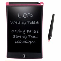 NEWYES Pink 8 5inch Digital LCD Writing Ewriter Graffiti Board Notepa Drawing And Writing Tablet Office