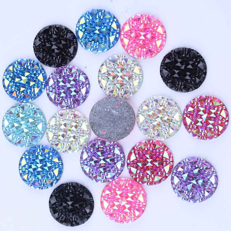 Taidian Neon Pink AB Flat Back Resin Rhinestones Sew on Cabochon 20mm Round Shape 28pcs/lotTaidian Neon Pink AB Flat Back Resin Rhinestones Sew on Cabochon 20mm Round Shape 28pcs/lot
