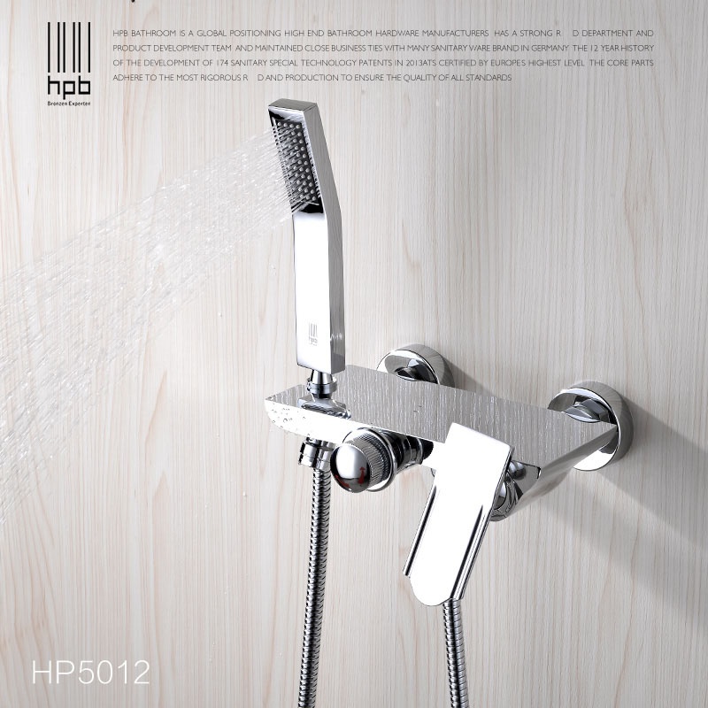 DUERNUO Complete sets Silver Bathroom Shower Faucets Bathtub Faucet ...