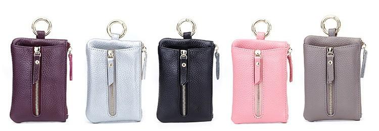 Women genuine leather key wallet 10