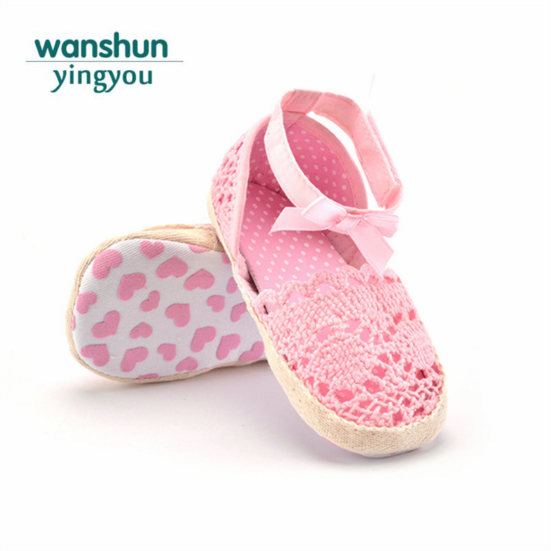 c4adf4a145a40 baby girls Sandal toddler princess footwear new born baby crochet shoes  Summer Butterfly-knot bebes infant lace soft sole walker