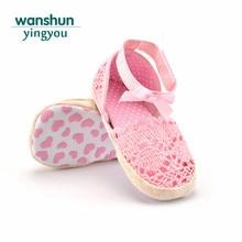 1db60338d7 Sandália da criança do bebê meninas princesa calçados bebê recém-nascido  bebes Borboleta-nó