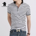 Brand New Men's Polo Shirt Top Quality Designer Fashion 100% Cotton stripe Casual short sleeve Polo Shirt For Men M~3XL C11d7