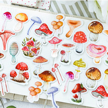 46 pcs/pack Little mushroom paper sticker DIY diary album decoration stickers scrapbooking planner label Scrapbook
