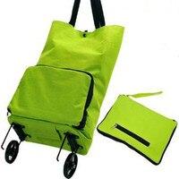 Folding Bags Shopping Cart Fashion Household Shopping Bag Folding Trolley Storage Bags
