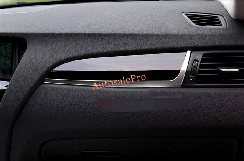 left hand drive Stainless Steel Front Console Dashboard Molding Cover Trim For BMW X4 2014 2015 картридж easyprint ce505a lh 05a