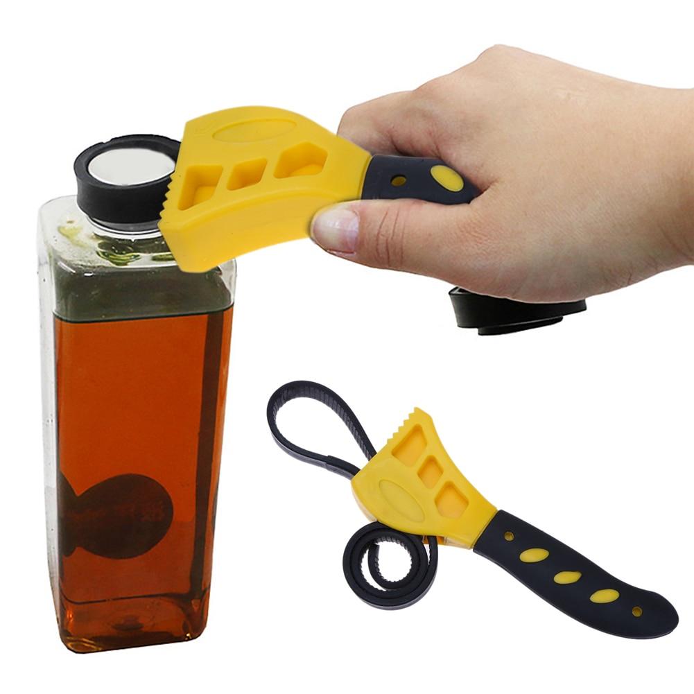 2pcs set Adjustable Rubber Strap Spanner Wrench Universal Bottle Caps Opener Any Shape Bottle Opening Tool