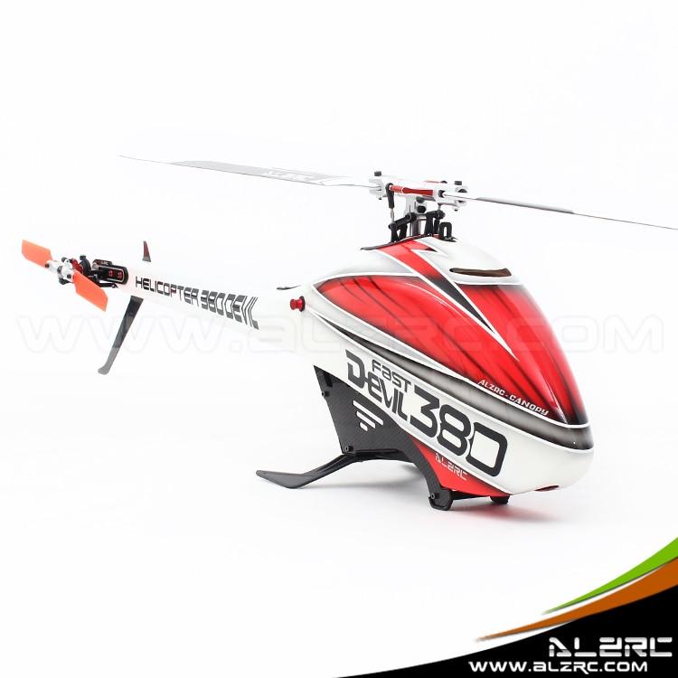 Alzrc дьявол 380 быстро FBL комплект вертолет комплект самолета RC электрический вертолет 380fbl Рамки комплект Мощность приводом вертолет Drone