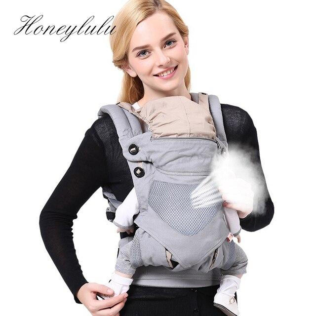 Honeylulu dört mevsim nefes bebek taşıyıcı gizli rüzgar geçirmez şapka Sling yenidoğan kanguru çocuk Hipsit Ergoryukzak