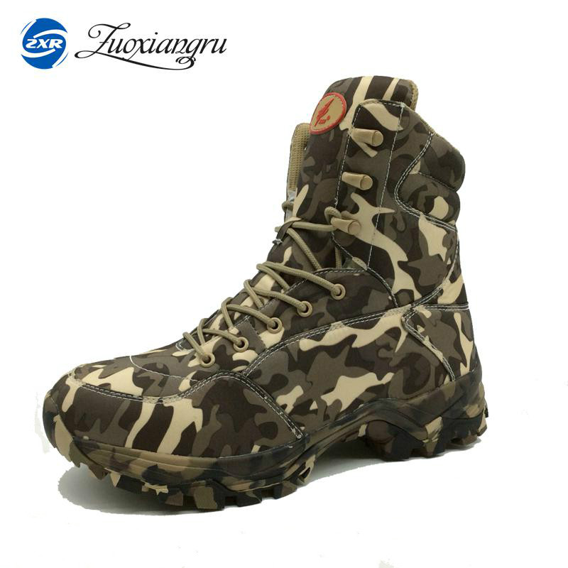 New Outdoor Sports Tactical Camping Shoes Men s font b Boots b font For Climbing Breathable